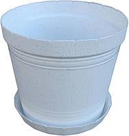 """Горшок для цветов пластиковый «Кадушка» с подставкой 2,5 литра """"ЧП КВВ"""""""