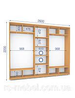 Шкаф купе (2200/2600/450), 3 двери, фото 1