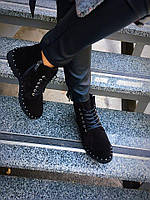 Женские демисезонные ботинки,Натуральная замша.Турецкие комплектующие,внутри итальянская байка.