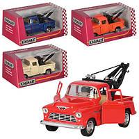 Машинка KT 5378 W, металл, инер-я, эвакуатор, 14-6-5 см, 1:32, отк.дв, рез.колес, 4цв, в коробке, 16-7-8, 5 см