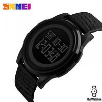 Ультратонкие часы  Skmei 1206 - Black ( 5 bar)