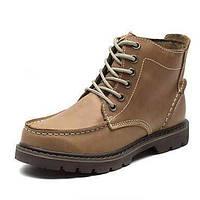 Коричневый / Зеленый / Телесный-Мужской-На каждый день-Кожа-На плоской подошве-Военные ботинки / С круглым носком-Ботинки 05248218