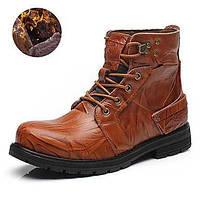 Для мужчин Ботинки Удобная обувь Модная обувь Кожа Весна Лето Осень Зима Повседневные Удобная обувь Модная обувь ШнуровкаНа плоской 05302020