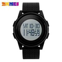 Тонкие спортивные часы - Skmei 1206 - Black ( 5 bar), фото 1