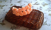 Роза з фоамірану 1,5-2см  оранжевий колір