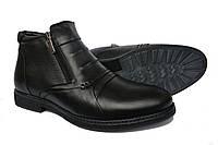 Кожаные  мужские зимние  классические ботинки  Vivaro Black