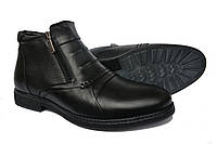 Кожаные  мужские зимние  классические ботинки  Vivaro Black, фото 1