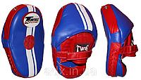 Лапа Изогнутая (1шт) Кожа TWINS PML-14-BU-RD (крепление на липучке, р-р 27*20*10см, синий-красный)