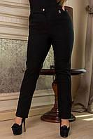 Классические женские черные брюки  батал