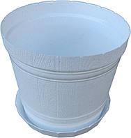 """Горшок для цветов пластиковый «Кадушка» с подставкой 3,1 литра """"ЧП КВВ"""""""