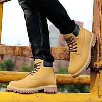Коричневый Желтый Бронза-Мужской-Для занятий спортом-Ткань-На плоской подошве-Удобная обувь-Ботинки 05510524