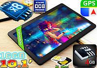 Планшет телефон ноутбук Samsung Galaxy 10, 12 ядер, 10.1'', 4Gb RAM, GPS, 2sim,железный корпус + чехол клава!