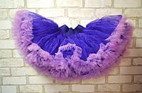 Фиолетовая детская юбка американка