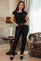брюки  женские с поясом батал