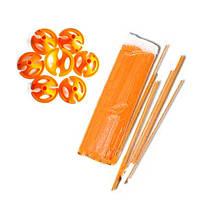 Палочки + зажимы для шаров оранжевые
