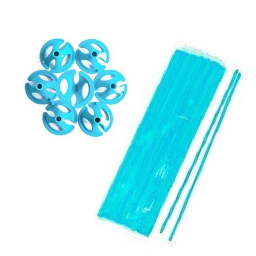 Палочки + зажимы для шаров голубые
