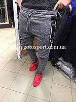 Теплые мужские спортивные штаны на флисе