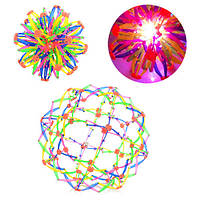 Мяч M 5391, трансформер, свет, в кульке, 15-15-15см