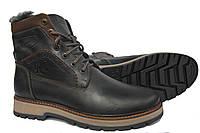 Кожаные  мужские зимние ботинки Riccone Black