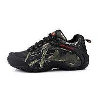 Для мужчин Спортивная обувь ПВХ Весна Осень Для пешеходного туризма На плоской подошве Серый Хаки Менее 2,5 см 05278346