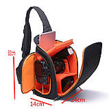 Сумка-рюкзак Caden D8 для дзеркальних фотоапаратів Nikon, Canon, Sony, Pentax - Black, фото 9