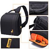 Сумка-рюкзак Caden D8 для дзеркальних фотоапаратів Nikon, Canon, Sony, Pentax - Black, фото 6