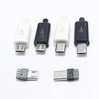 Micro USB, удлиненный 8 мм., черный, разборной, есть опт.