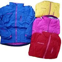 Лыжная куртка 2 в 1 (куртка + флисовая кофта) для девочек, Glo-Story, 134/140-170, арт. GMA-4049