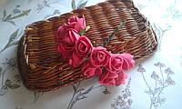 Роза з фоамірану 1,5-2см  малиновий колір