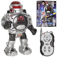 Робот M 0465 U/R, р/у, стреляет дисками, свет, на батарейке, в коробке, 21-14-32 см