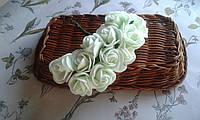 """Роза з фоамірану 2-2,5см  м""""ятний колір"""