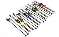 Лыжи беговые в комплекте с палками 883-140В: длина лыж 140см