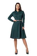 Женское красивое офисное,  платье рубашка Мальва  размеров 42, 44, 46, 48, 50, 52, 54, 56 зеленого цвета
