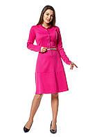 Женское красивое офисное,  платье рубашка Мальва  размеров 42, 44, 46, 48, 50, 52, 54, 56 малинового цвета