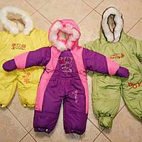 Детский зимний Комбинезон-Трансформер на (овчина)-(2 в 1), Комбинезон+конверт+варежки+топики