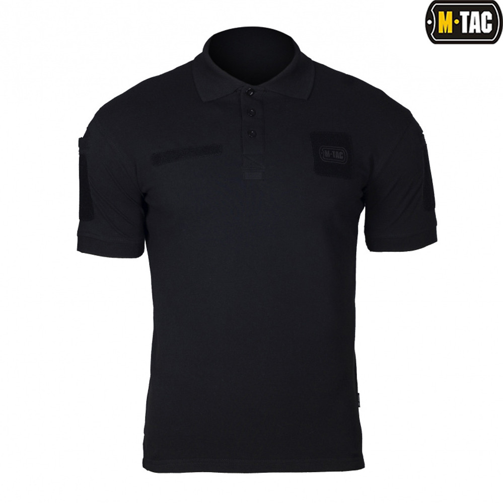 Таткична футболка поло ELITE TACTICAL 100% Х/Б BLACK