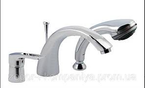 Смеситель врезной на 3 отверстия для ванны Haiba Hansberg 022