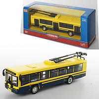 Троллейбус 6407D, металл, инер-й, 16-4,5-3,5 см, 1:72, рез.колеса, в коробке, 20-8-6 см