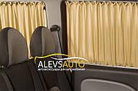 Шторы Opel Vivaro / Опель Виваро 2001-2015 Бежевые