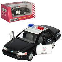 Машинка KT 5327 W, металл, инецрия, полиция, 1:42,12см, откр.дв, рез.колеса, в коробке, 16-7-8см