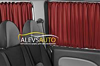 Шторы Opel Vivaro / Опель Виваро 2001-2015 Бордовые