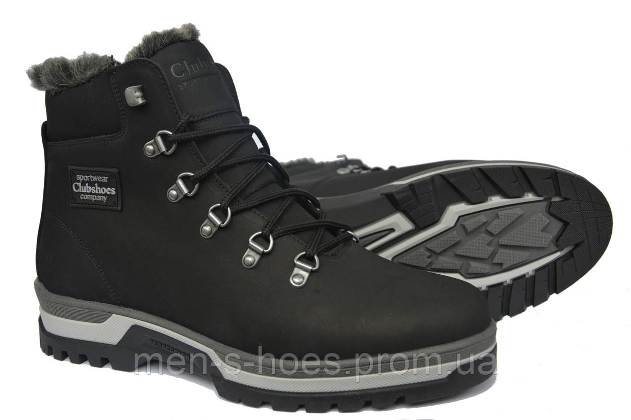 1255b2b4 Кожаные мужские зимние ботинки Clubshoes Sportwear Black: продажа ...