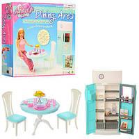 Мебель 2812, кухня, стол, стул 2 шт., холодильник, посуда, в коробке, 26-24-25 см
