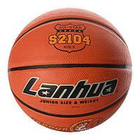 Мяч баскетбольный S 2104, размер5, рисунок-печать, 460-500г, в кульке,