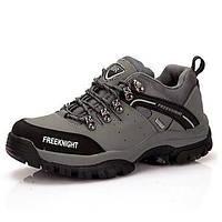 Для мужчин Кеды Удобная обувь Кожа Осень Для пешеходного туризма Удобная обувь Шнуровка На танкетке Серый Зеленый Хаки 2,5 - 4,5 см 05309028