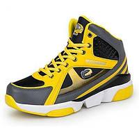 Для мужчин Кеды Удобная обувь Микроволокно Осень Для баскетбола Удобная обувь Шнуровка На танкетке Черный Желтый Красный 2,5 - 4,5 см 05309003