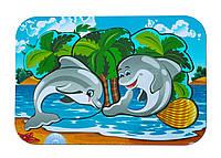 Деревянный вкладыш «Дельфины»