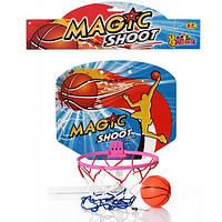 Баскетбольное кольцо M 2652, щит30-25 см(пластик),кольцо20 см(пластик)мяч,в кульке,32-35-3 см
