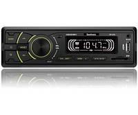 Автомагнітола Fantom FP-370 USB/SD 1 Din Black/Green