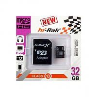 Карта памяти SD-micro 32Gb Hi-Rali Class10 SD адаптер